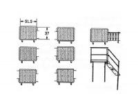 Greene Galvanized Stairs - Greene Easy Step Sidewall Stairs - Greene - Greene ES8500 Series Platform