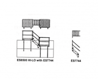 Greene Galvanized Stairs - Greene Easy Step Sidewall Stairs - Greene - Greene Transition Stair Section for ES8500 Platform