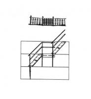Greene Galvanized Stairs - Greene Easy Step Sidewall Stairs - Greene - Greene Rest Landing at Seam