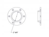 """SmartBob2 & SmartBob AO Remote Sensors - SmartBob2 & SmartBob AO Mounting Plate Options - BinMaster - BinMaster 0° Mounting Plate with 5.13"""" Diameter Bolt Circle"""