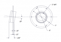 SmartBob2 & SmartBob AO Remote Sensors - SmartBob2 & SmartBob AO Mounting Plate Options - BinMaster - BinMaster 10° Mounting Plate