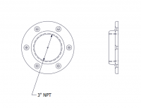 SmartBob-TS1 Remote Sensors - SmartBob-TS1 Mounting Plate Options - BinMaster - BinMaster 0° Mounting Plate for TS1