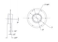 SmartBob-TS1 Remote Sensors - SmartBob-TS1 Mounting Plate Options - BinMaster - BinMaster 5° Mounting Plate for TS1