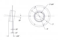 SmartBob-TS1 Remote Sensors - SmartBob-TS1 Mounting Plate Options - BinMaster - BinMaster 10° Mounting Plate for TS1