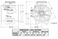 "Brock - 26"" Brock Axial Heater Natural Gas & Propane Vapor - Hi-Lo - for Fan Model AX26 - Image 2"