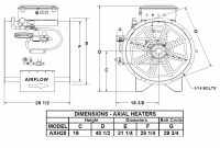"Brock - 28"" Brock Axial Heater Natural Gas & Propane Vapor - Hi-Lo - for Fan Model AX28 or LC27-LC30 - Image 2"